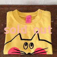 ▲送料無料 80サイズ/半そで ねこもぐらさんTシャツ 6.2oz uyoga cat mole バナナ