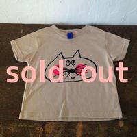 ▲送料無料 100サイズ/半そで ねこもぐらさんTシャツR 5.5oz uyoga cat mole  ほっぺあり 112番目のねこもぐらさん