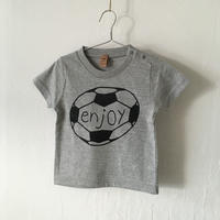 ▲送料無料 90サイズ/半そで uyoga enjoy soccer Tシャツ 5.6oz ミックスグレー