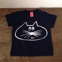 ▲送料無料 70サイズ/半そで ねこもぐらさんTシャツB 5.6oz uyoga cat mole ネイビー 543番目のねこもぐらさん