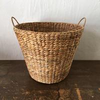 やさしい風合い 大きめの手づくりかご ベトナム handmade  ウォーターヒヤシンス ランドリー バスケット Lサイズ