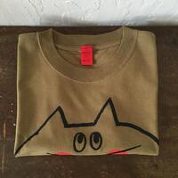 ▲送料無料 140サイズ/半そで ねこもぐらさんTシャツC 6.2oz uyoga cat mole モス ほっぺあり 1029番目のねこもぐらさん