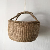 ベトナムのまるっこい手づくりかご handmade シーグラス ラウンド バスケットA Lサイズ AL-8