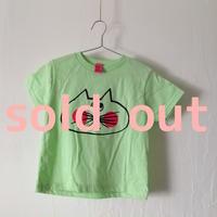 ▲送料無料 100サイズ/半そで ねこもぐらさんTシャツR 5.5oz uyoga cat mole ミント ほっぺあり 852番目のねこもぐらさん