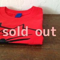 ▲送料無料 100サイズ/半そで ねこもぐらさんTシャツB 5.6oz uyoga cat mole フレンチレッド ほっぺあり 606番目のねこもぐらさん