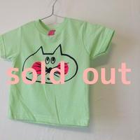 ▲送料無料  80サイズ/半そで ねこもぐらさんTシャツR 5.5oz uyoga cat mole ミント ほっぺあり 762番目のねこもぐらさん