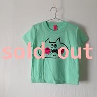 ▲送料無料 100サイズ/半そで ねこもぐらさんTシャツ 5.6oz uyoga cat mole メロン ほっぺあり 854番目のねこもぐらさん