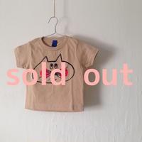▲送料無料 80サイズ/半そで ねこもぐらさんTシャツR 5.5oz uyoga cat mole カーキ ほっぺあり 845番目のねこもぐらさん