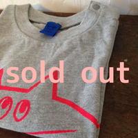 ▲送料無料 90サイズ/半そで ねこもぐらさんTシャツA 6.2oz uyoga cat mole ミックスグレー ほっぺなし/蛍光ピンク 53番目のねこもぐらさん