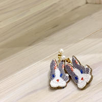 """Rabbit Pierced earrings  pair"""