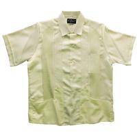 メキシカンシルクキューバシャツ(半袖グアヤベラシャツ) オープンカラー / 開襟 シャツ クリーム