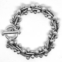 【受注生産】メキシカンジュエリー DNA トグル ブレスレット シルバー925