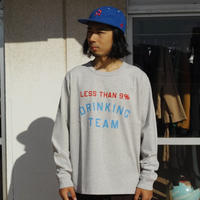 TACOMA FUJI RECORDS, LESS THAN 9% DRINKING TEAM LS shirt
