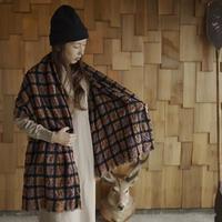 LOCALLY, cotton/ wool tartancheck stole