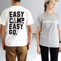 OUTPUT LIFE,6.2oz HEAVYWEIGHT TEE -EASY CAMP EASY GO-