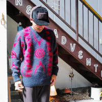 South2 West8, Loose Fit Sweater - Mohair / S2W8 Native Pattern