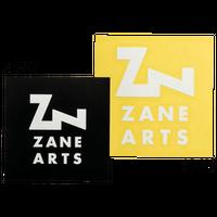 ZANE ARTS, スクエアステッカー ブラック