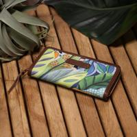 THE SUPERIOR LABOR, tropical zip long wallet PLANTS