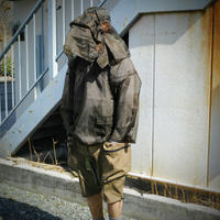 """meanswhile, Rip Stop Mesh """"Bugs Off"""" Hoodie -KHAKI-"""