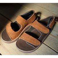 Monitaly,Leather 3-Strap Sandal