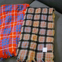 LOCALLY, cotton/ wool tartancheck stole