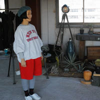 White Mountaineering×Gramicci,GARMENT DYED WIDE SHORT PANTS