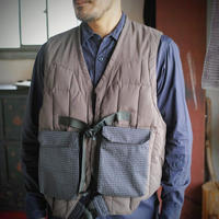 meanswhile,Peach Cloth Down Vest/L6