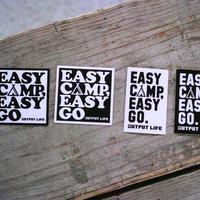 OUTPUT LIFE,  EASY CAMP EASY GO sticker