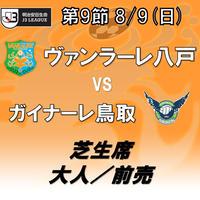 2020年8月9日(日)J3第9節 ヴァンラーレ八戸vsガイナーレ鳥取 芝生席 大人/前売