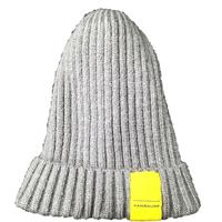 ニット帽 (タグ:黄色)