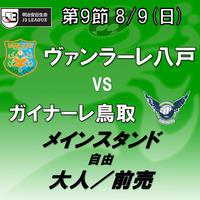 2020年8月9日(日)J3第9節 ヴァンラーレ八戸vsガイナーレ鳥取 メインスタンド自由 大人/前売