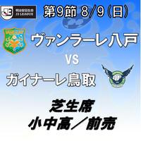 2020年8月9日(日)J3第9節 ヴァンラーレ八戸vsガイナーレ鳥取 芝生席 小中高/前売