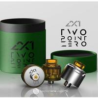 【BF対応】Sector One Vapors AX1 2.0 アトマイザー 22mm  3色キャップset (リング付属)