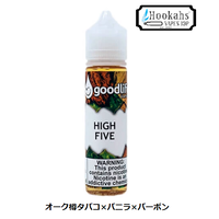 香り纏うバニラバーボンとオーク樽タバコ…HIGH FIVE by goodlife vapor 60ml
