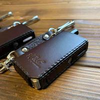 Orion leather case (box type) / Rad customs  /  Dark Brown (nickel)