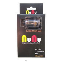 【使い捨てアトマイザー】Nunu Disposable   Sub Ohm   Tank 3ml   3pcs