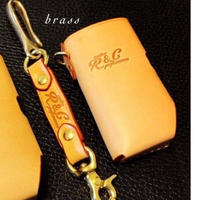 ORION  leather case set  / Rad customs  /  Natural (brass)