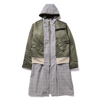 REVERSIBLE COAT / green