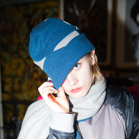 KNIT CAP / blue