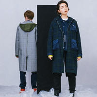 REVERSIBLE COAT / navy