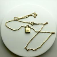 K10 padlock necklace - Xmas限定 イニシャル刻印 -