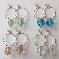 GLASS EARRINGS ガラスピアス/イヤリング