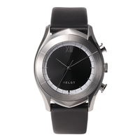 [LUXTURE] ALTAIR Series  Black S - Black Calf Leather Strap