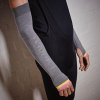 Merino Wool Arm Warmers グレー/ メリノウール アームウォーマー 男女兼用 (VB-107)