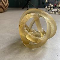 Glass Knot Matt-Gold(クルクル丸められたガラスのロープ)