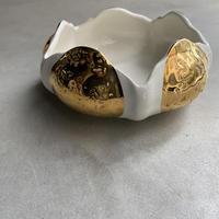 Ceramic Dish with Gold(金と白のコンビのお皿)