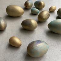 Painted Wood Egg Set(12個セットの幸運タマゴ)