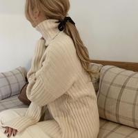 rib turtle knit[ivory]