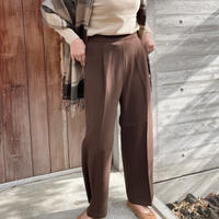 wide pants[ivory / brown]