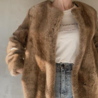 long fake fur coat